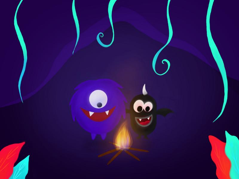 Winter Fire illustration vectorart