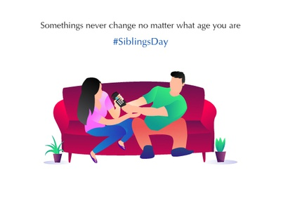 Siblings Day care socialmediapost socialmedia love fight siblings vectordesign vector artwork graphic graphic  design illustration vector design