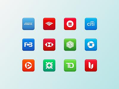 Banks banks icons logos glyphs