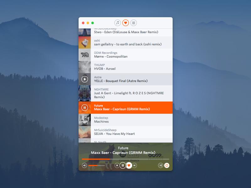 Soundcloud for mac   v.0.5.1   dribbble