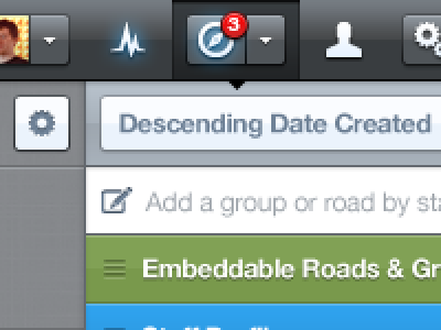 Descending interstate interstateapp version 5 navigation glow select button reorder move icons gloss