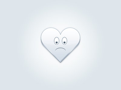 Heart noscirpt javascript heart sad broken