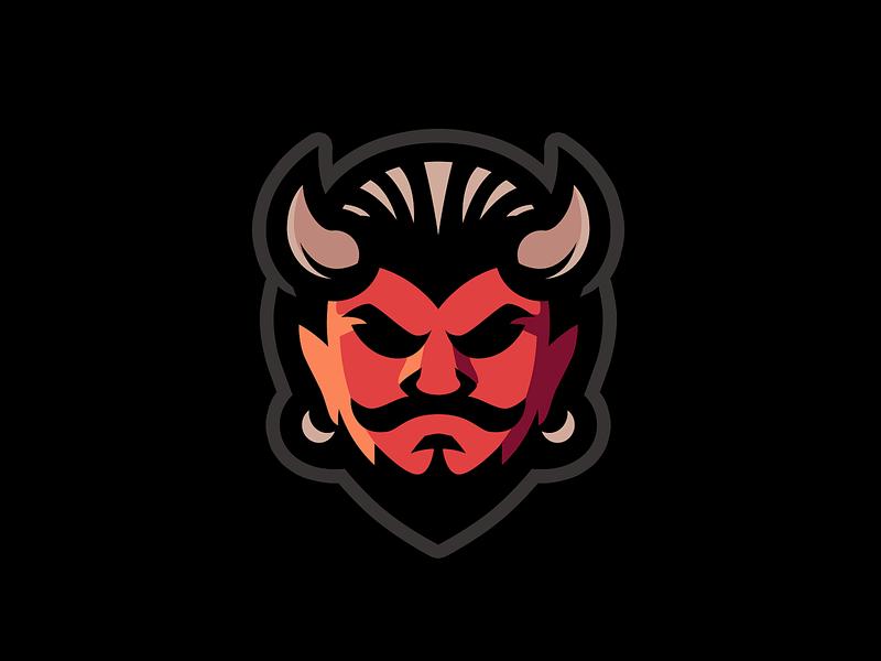 Devil logo logotype mascot logo mascot devil branding vector logo design illustration