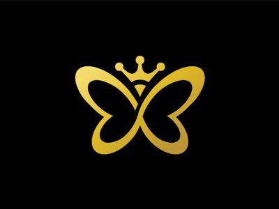 Butterfly Infinity Love Hearts Logo