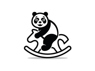 Panda Rocking Horse Logo