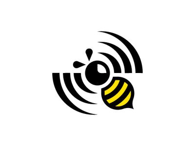 Bee Spinning Propeller Wifi Logo