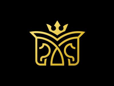 Letter M Royal Horses Logo