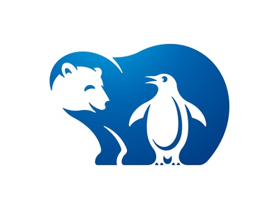 Polar Bear and Penguin Friends Logo