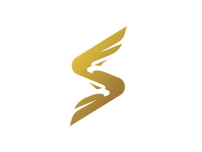Unique Eagle Letter S Logo