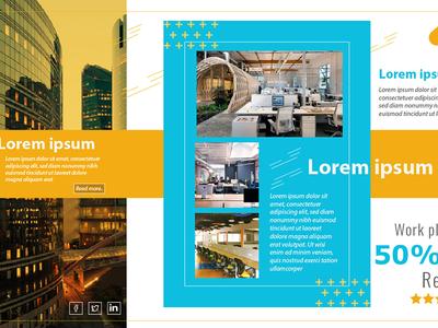 Digital marketing design concept for workspace