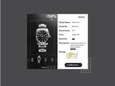 Ecommerce add to cart page design