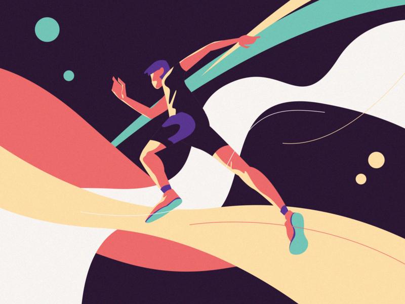 Keep running sports vector design illustration