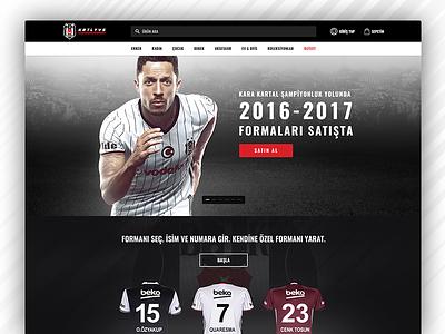 Beşiktaş Store Web Site ui store bjk redesign web design e-commerce soccer football