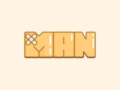 X-Man icon logotype logo illustration typography xman x men