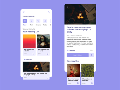 Aries Blog minimal product designer ui ux design ux designer ios ui ux ui design mobile product design design app