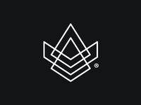 Megatron5000 minimal logo pyramid triangles shapes