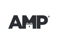 Amp Logo digital craft battery electric power amp logo