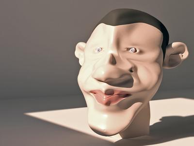 3Dmax Obama Modeling