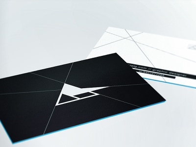 Ezekiel - High Profile branding business cards print logo black logomark mark technical abstract colored edges