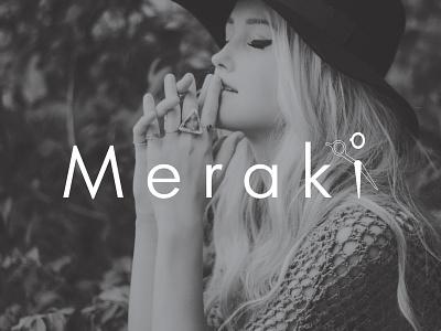 Meraki logo design visual identity branding