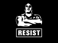 RESIST the Giant political Print, homage Andre the Giant