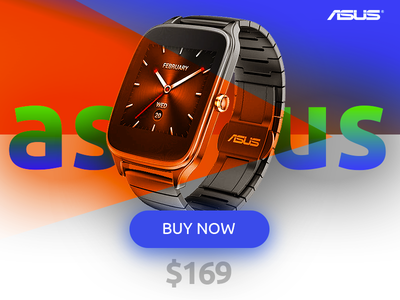Asus Zenwatch2 Card zenwatch asus smartwatch shop cart ui gradient color card