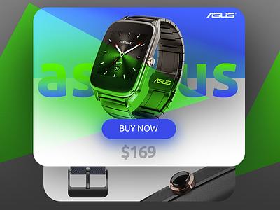Asus Zenwatch2 zenwatch asus smartwatch shop cart ui gradient color card