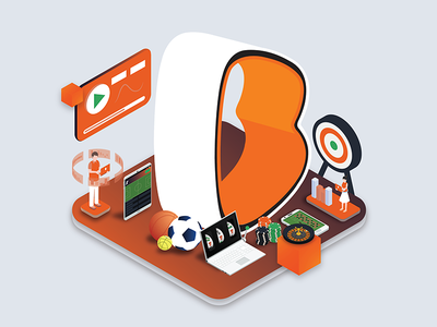 Maintenance Mode for Betano casino sportsbook betting isometric illustration ui design