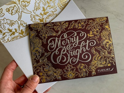 Detailed Holiday Card branding hand-lettering cleveland handdrawn vintage floral illustration typography handlettering lettering
