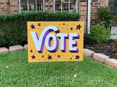 Vote Yard Sign yard sign vote
