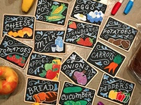 Farmer's Market Labels for Kids' Playground