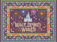 Disney World Rug Art