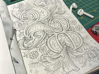 28 Sketch decorative lettering numbers 8 2 sketch wip