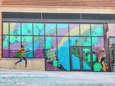Living Wall Window Mural