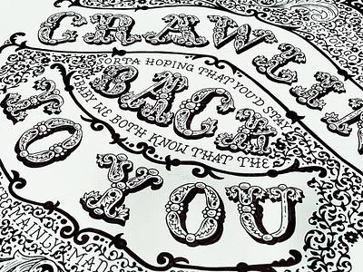 Do I Wanna Know? Fan Art pattern arctic monkeys lyrics music design hand-lettering handdrawn cleveland wip vintage quote floral illustration sketch typography handlettering lettering