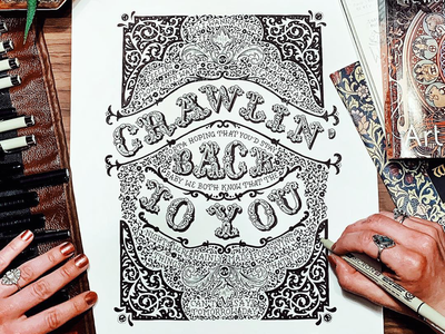 Do I Wanna Know? ornate typography hand-lettering