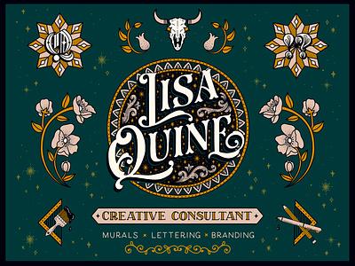 Personal Branding System branding taurus mural logo identity system branding system identity skull beddding stars vintage floral illustration typography handlettering lettering