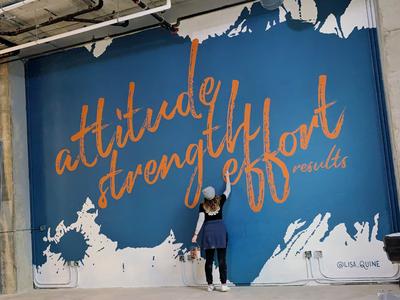 Textured Gym Mural Design