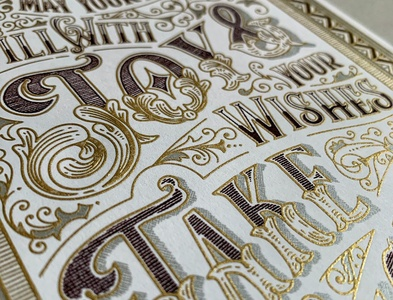 Victorian Holiday Card handdrawn design pattern details victorian vintage illustration typography handlettering lettering