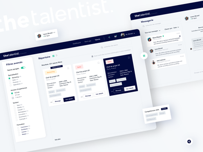 Repertory redesign #1 - the talentist minimal icon brand design website logo branding app ux ui design