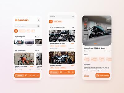 App exploration #2 - leboncoin dailyui blurry blur exploration explore redesign flat minimal icon brand design branding brand identity app ux ui design