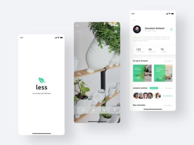 Less app. Design 1/2