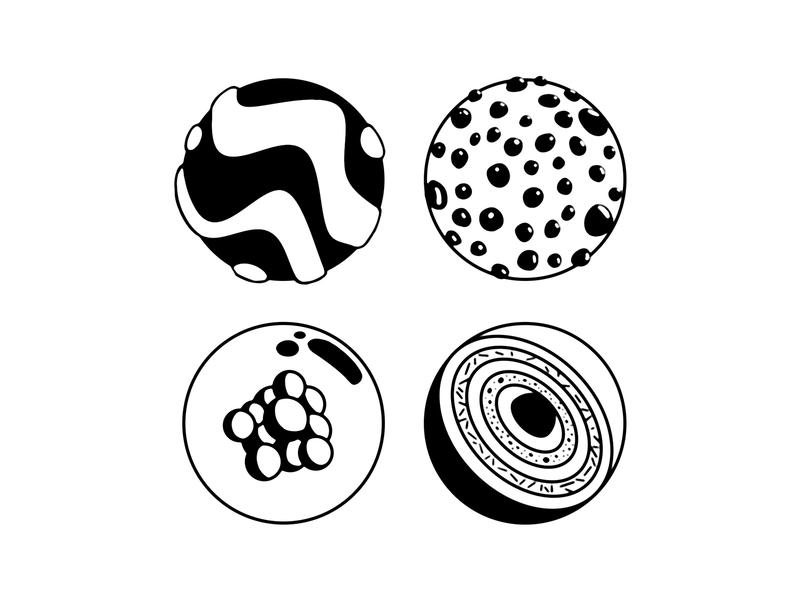 balls ink 3d ball illustration ball
