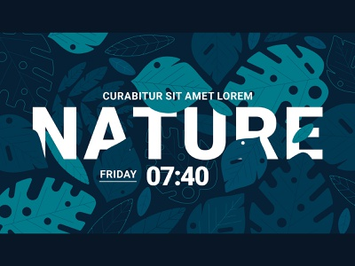 Intertwined title with nature background motiongraphic leaf illustration leafs leaf leaves nature illustration nature art nature psd mockup mockup social media typography vector flat illustration motion animation title design title