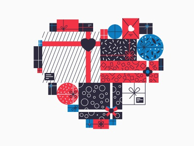 Heart gifts giftshop gifts big gift big heart fathers day mothers day vector illustration illustration vector colorful color template mockup stock love valentines valentines day valentine gift heart