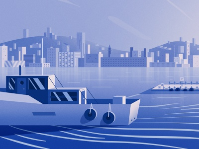 Istanbul Landscape Illustration boat seaside sea istanbul kız kulesi city landscape vector illustration