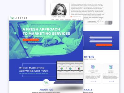 Australian Marketing Agency marketing agency landing page agency ui web design figma design