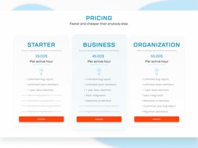 Price Features Cards marketing agency ui design cards figma ui web design minimalism design