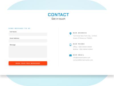 Booking Form ux design minimalism web design ui figma design