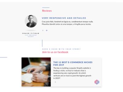Cards And Reviews cards agency minimalism web design figma ui design